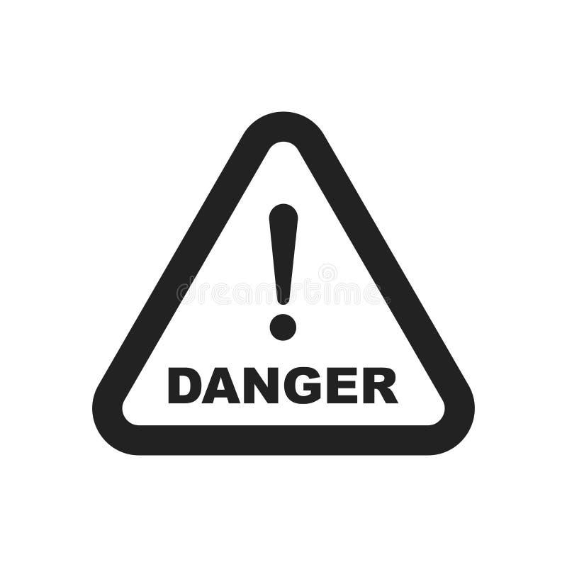 Значок вектора знака опасности Иллюстрация предосторежения внимания Бизнес иллюстрация вектора