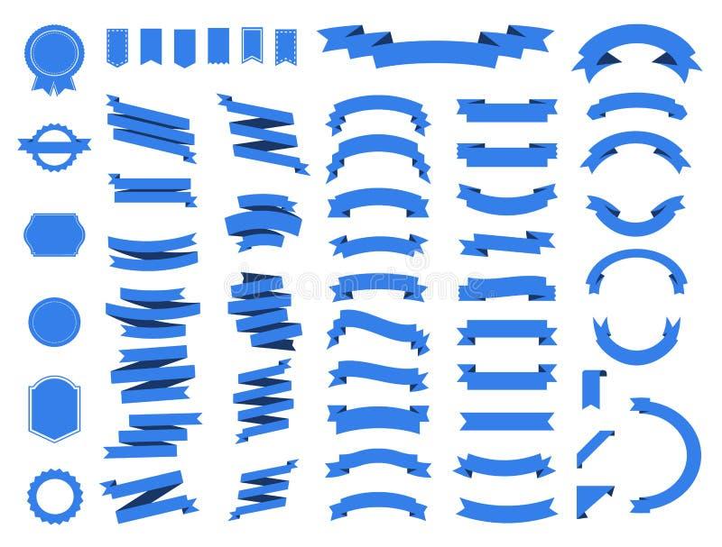 Значок вектора знамени установленный на белую предпосылку Лента изолировала иллюстрацию форм подарка и аксессуара иллюстрация вектора