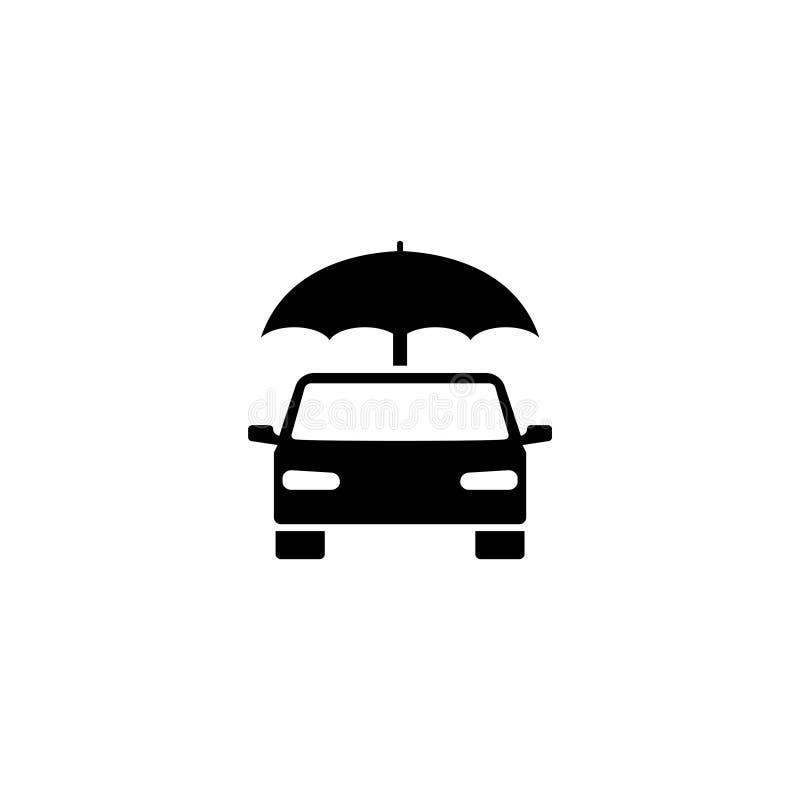 Значок вектора зонтика автомобиля страхования плоский бесплатная иллюстрация