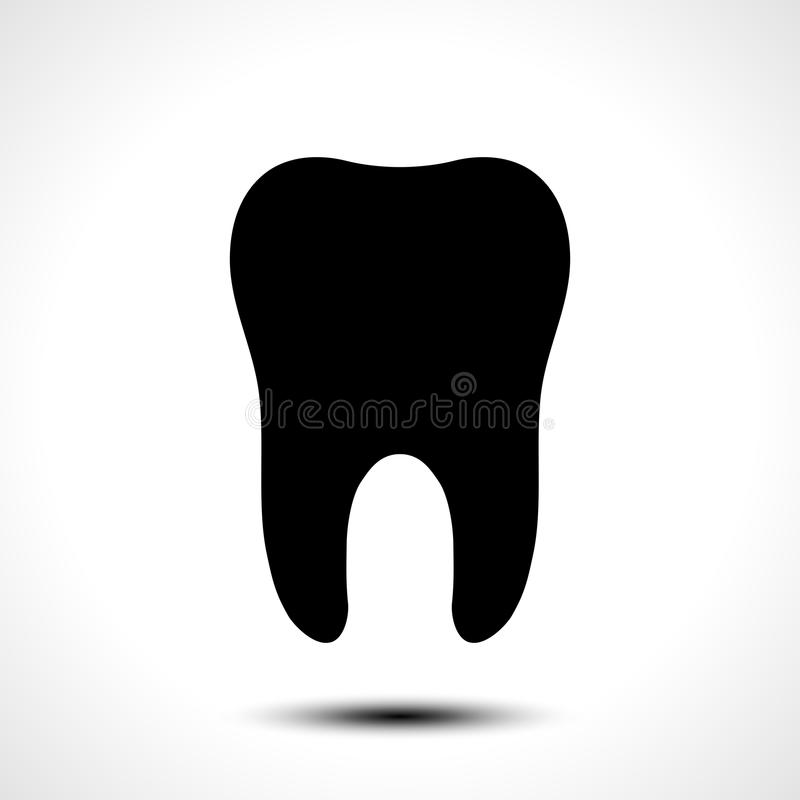 Значок вектора зуба бесплатная иллюстрация