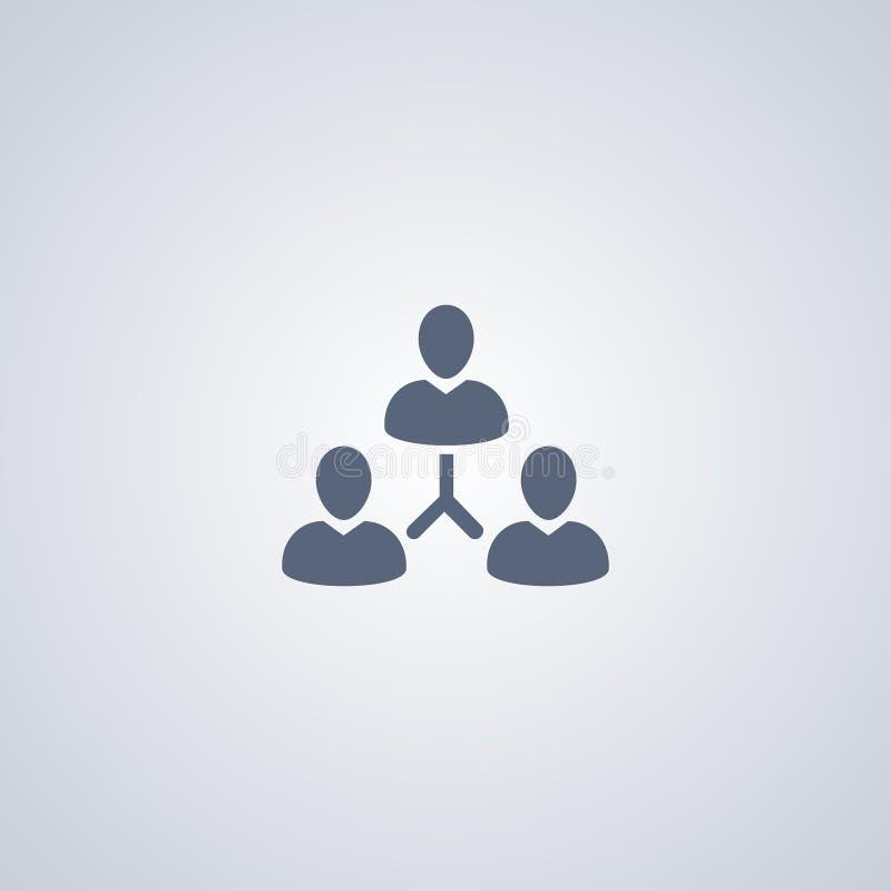 Значок вектора иерархии команды управления бесплатная иллюстрация