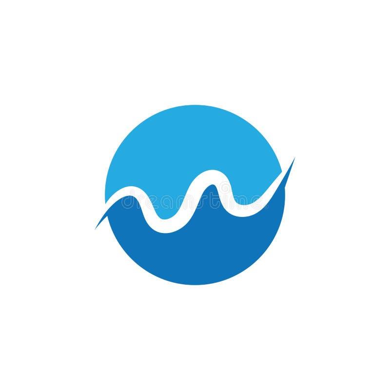 Значок вектора иллюстрации W Letter Water wave Logo Template бесплатная иллюстрация