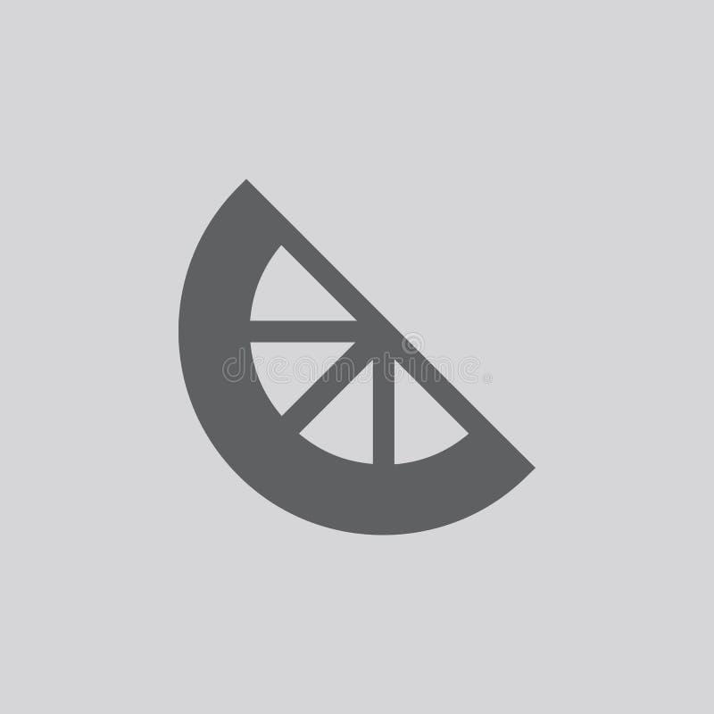 Значок вектора лимона стоковое изображение rf
