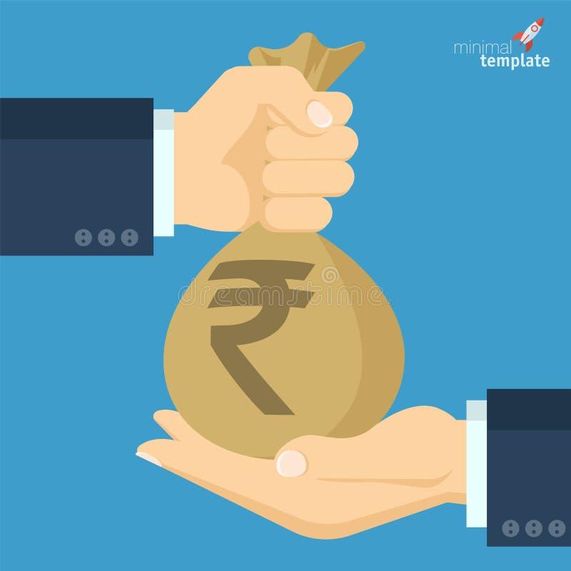 Значок вектора индийской рупии бесплатная иллюстрация