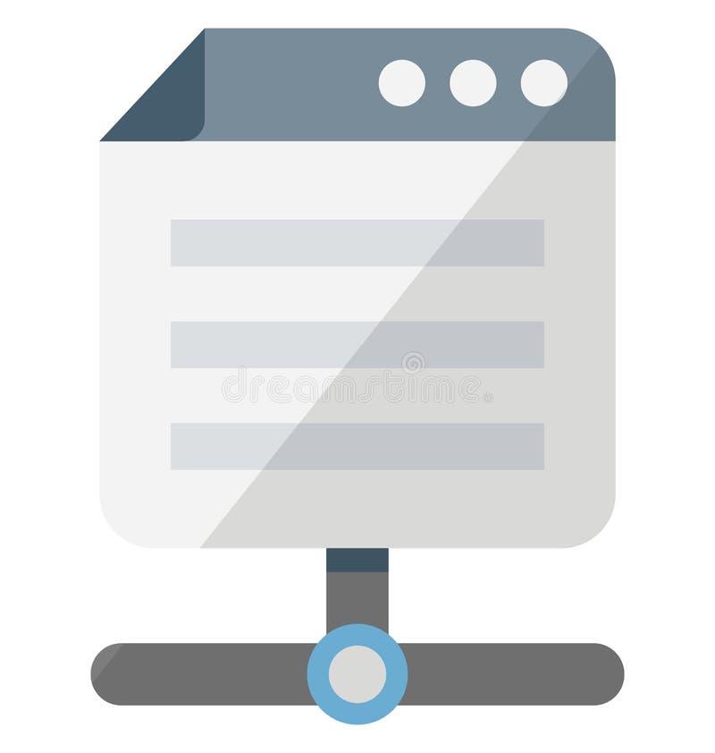 Значок вектора интернет-браузера равновеликий изолированный который можно легко доработать или редактировать иллюстрация штока
