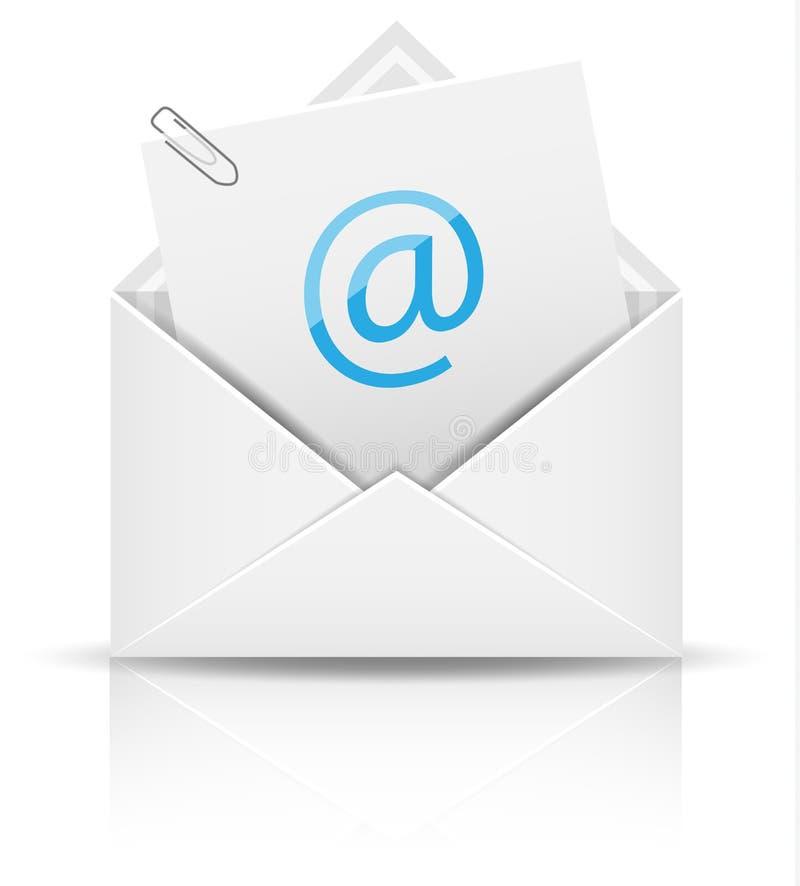 Значок вектора информационого бюллетеня электронной почты иллюстрация вектора
