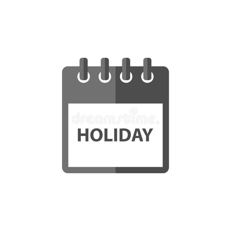 Значок вектора календаря праздника в плоском дизайне иллюстрация штока