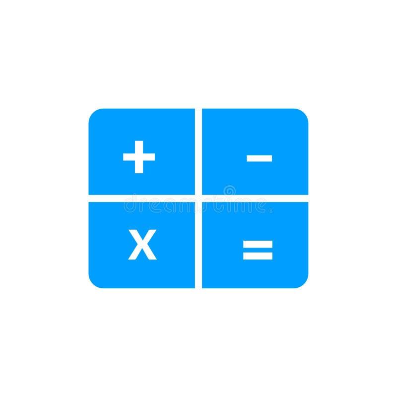 значок вектора калькулятора иллюстрация вектора