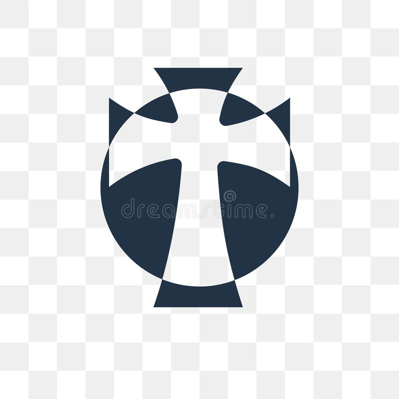 Значок вектора кельтского креста изолированный на прозрачной предпосылке, Cel иллюстрация штока