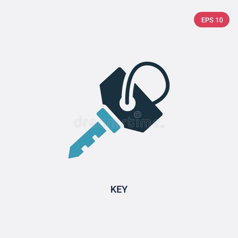 Значок вектора ключа цвета 2 от концепции стратегии изолированный голубой ключевой символ знака вектора может быть пользой для се иллюстрация штока