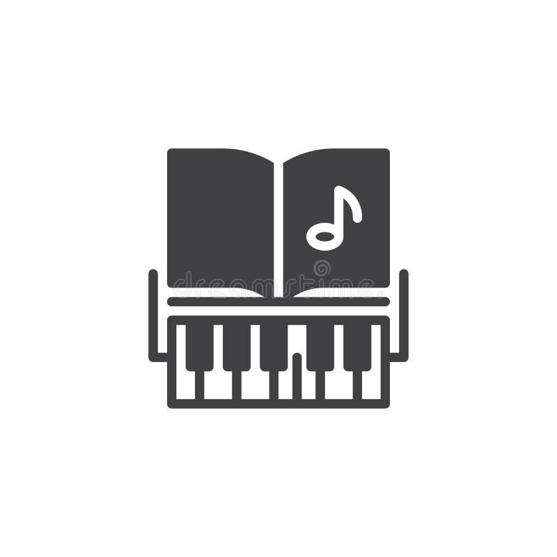 Значок вектора ключей рояля и примечаний музыки бесплатная иллюстрация