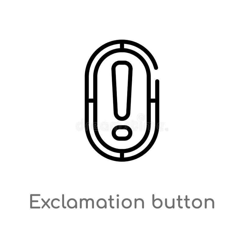 значок вектора кнопки возгласа плана r editable иллюстрация штока