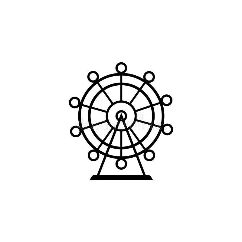 Значок вектора колеса Ferris бесплатная иллюстрация