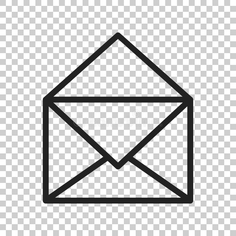 Значок вектора конверта почты Иллюстрация вектора электронной почты плоская E-mai иллюстрация вектора