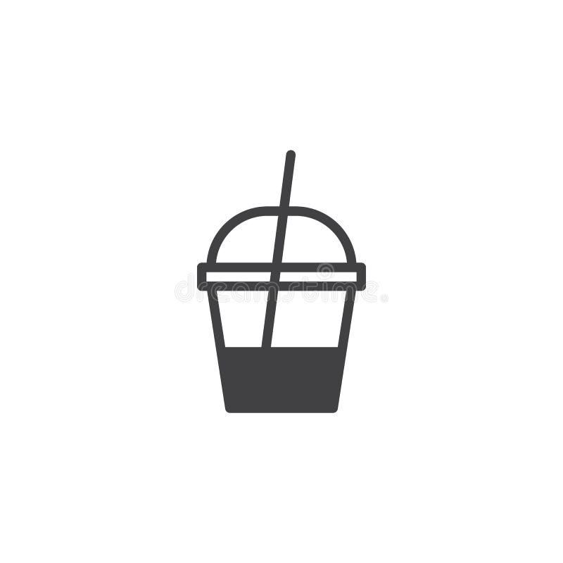 Значок вектора контейнера молочного коктейля иллюстрация штока