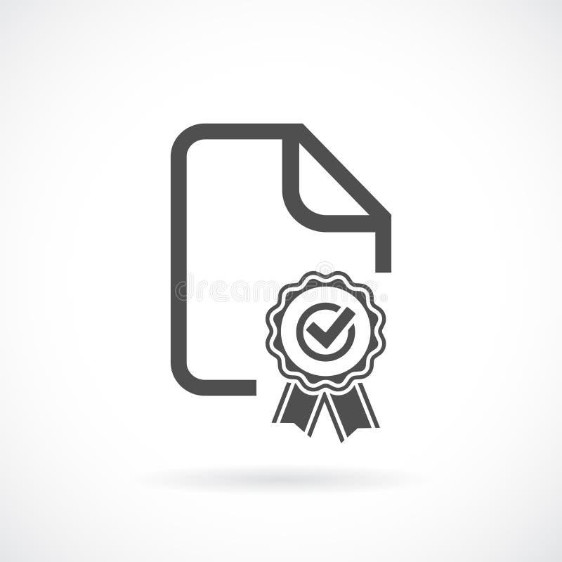 Значок вектора контракта бесплатная иллюстрация