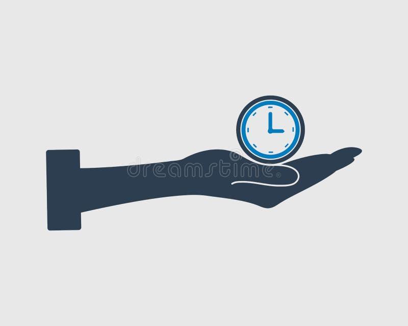 Значок вектора контроля времени иллюстрация штока