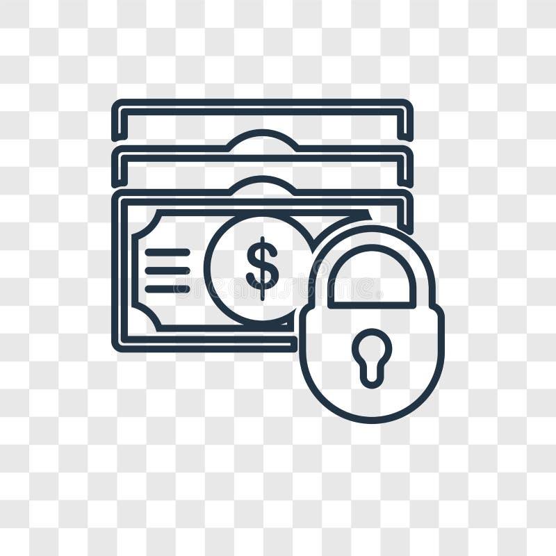 Значок вектора концепции доллара линейный изолированный на прозрачном backgr бесплатная иллюстрация