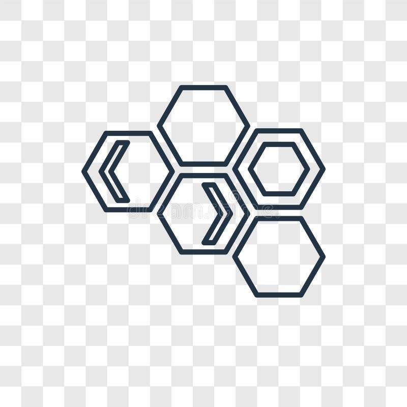 Значок вектора концепции клеток силы Eco линейный изолированный на transpare иллюстрация штока