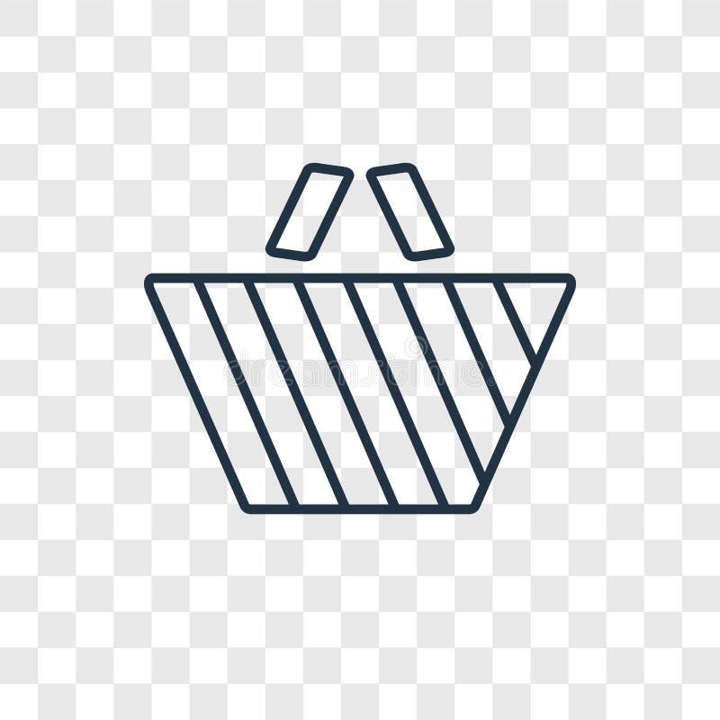 Значок вектора концепции пикника линейный изолированный на прозрачном backgr бесплатная иллюстрация