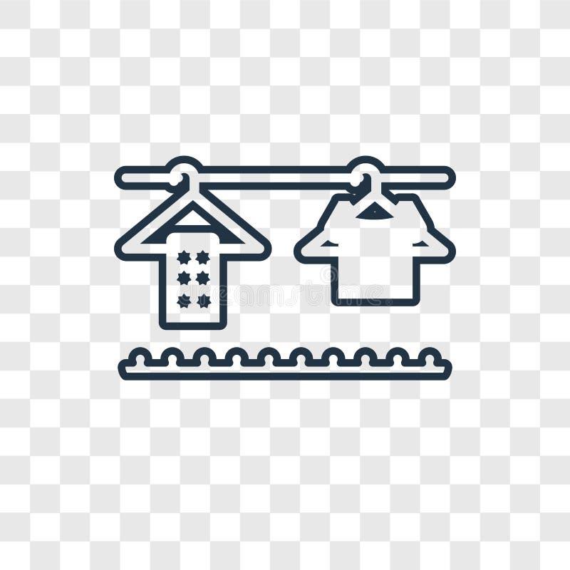 Значок вектора концепции шкафа линейный изолированный на прозрачном backgrou иллюстрация штока