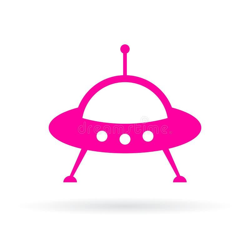 Значок вектора космического корабля чужеземцев иллюстрация штока