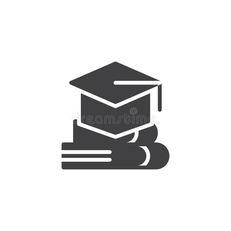Значок вектора крышки и книги градации бесплатная иллюстрация