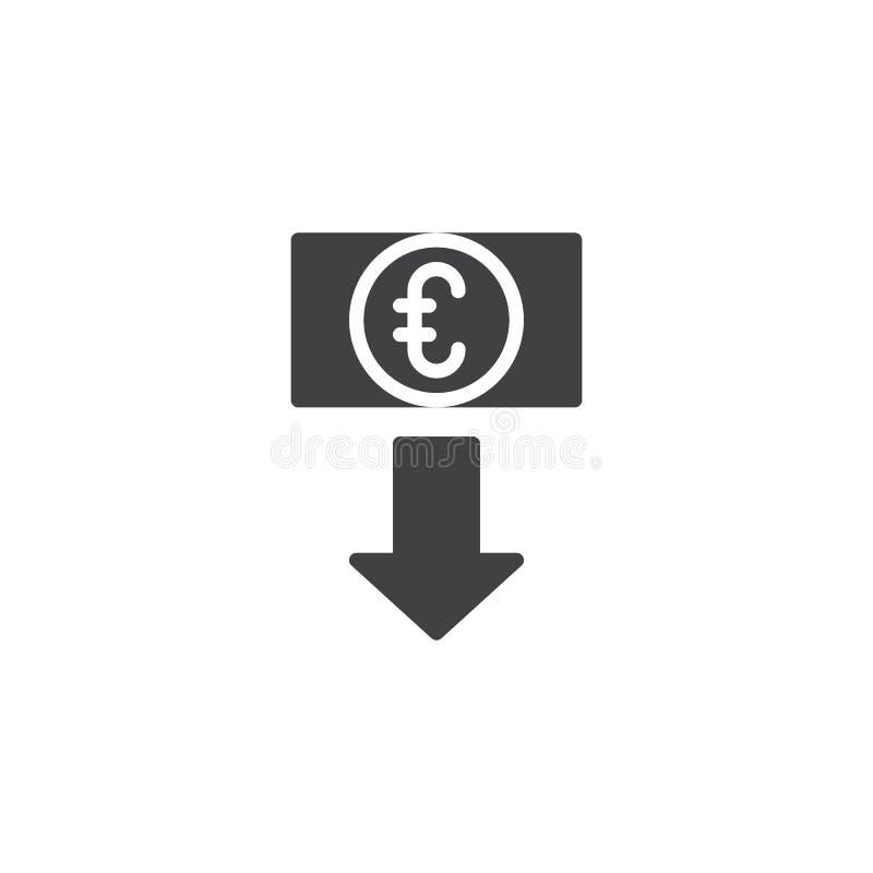 Значок вектора курса евро иллюстрация вектора