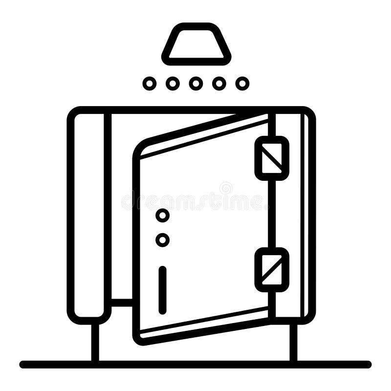 Значок вектора ливня иллюстрация штока