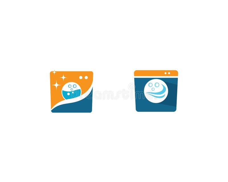 Значок вектора логотипа прачечной бесплатная иллюстрация
