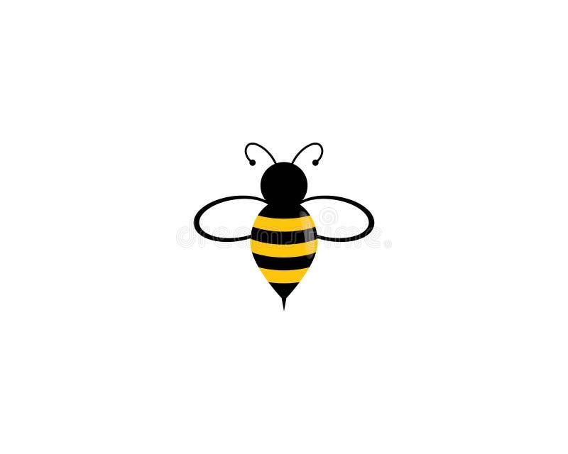 Значок вектора логотипа пчелы иллюстрация вектора