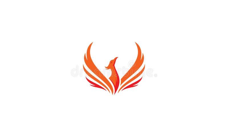 Значок вектора логотипа Феникса иллюстрация штока