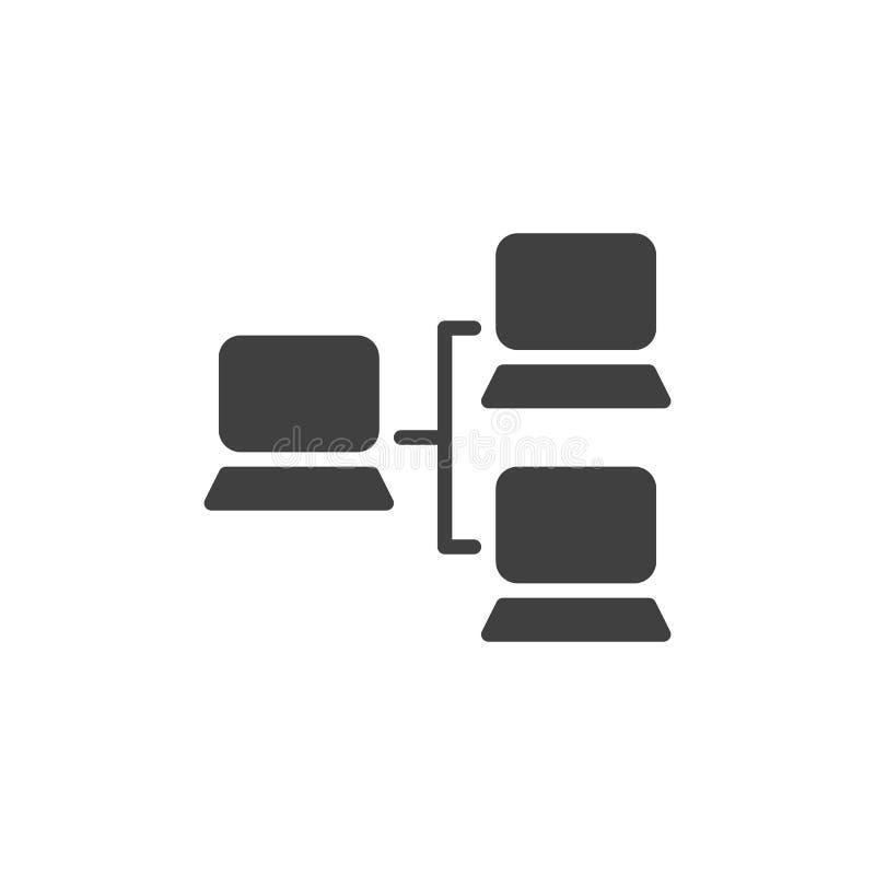 Значок вектора локальной сети иллюстрация штока