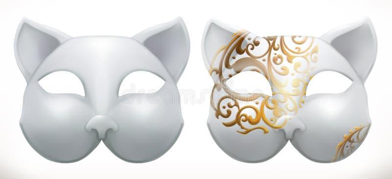 Значок вектора маски 3d кота бесплатная иллюстрация