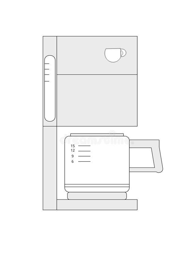 Значок вектора машины кофе стоковое фото