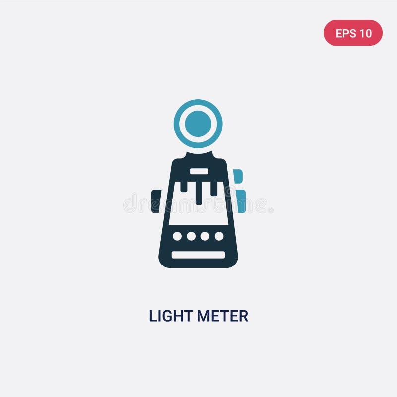 Значок вектора метра света 2 цветов от концепции фотографии изолированный голубой символ знака вектора светлого метра может быть  иллюстрация вектора