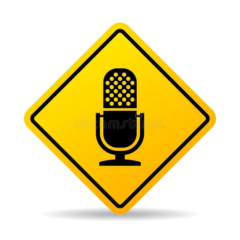 Значок вектора микрофона бесплатная иллюстрация