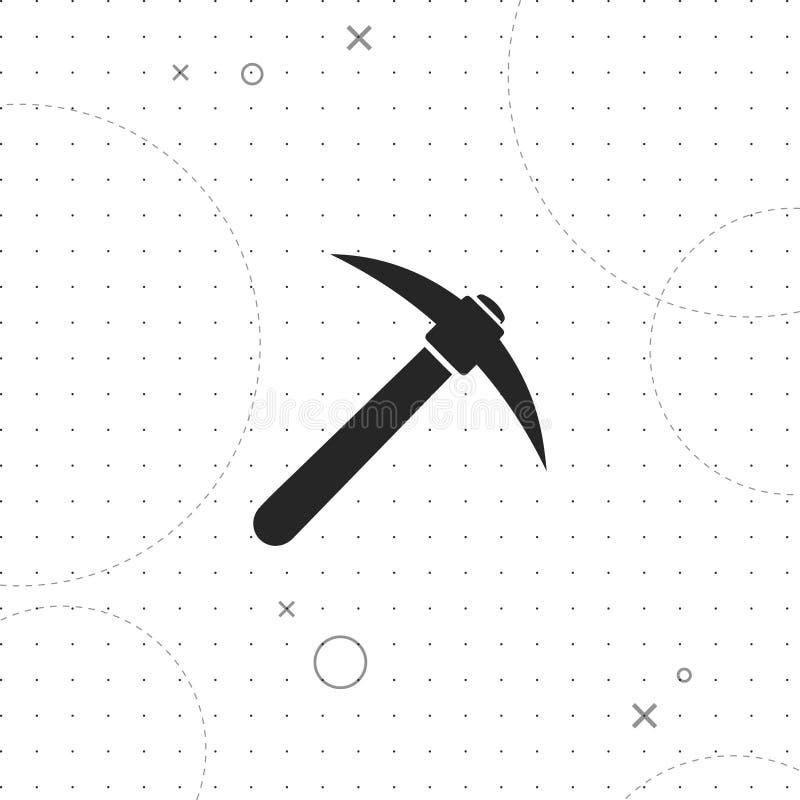 Значок вектора минирования Cryptocurrency иллюстрация вектора