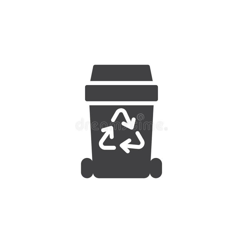 Значок вектора мусорной корзины иллюстрация вектора