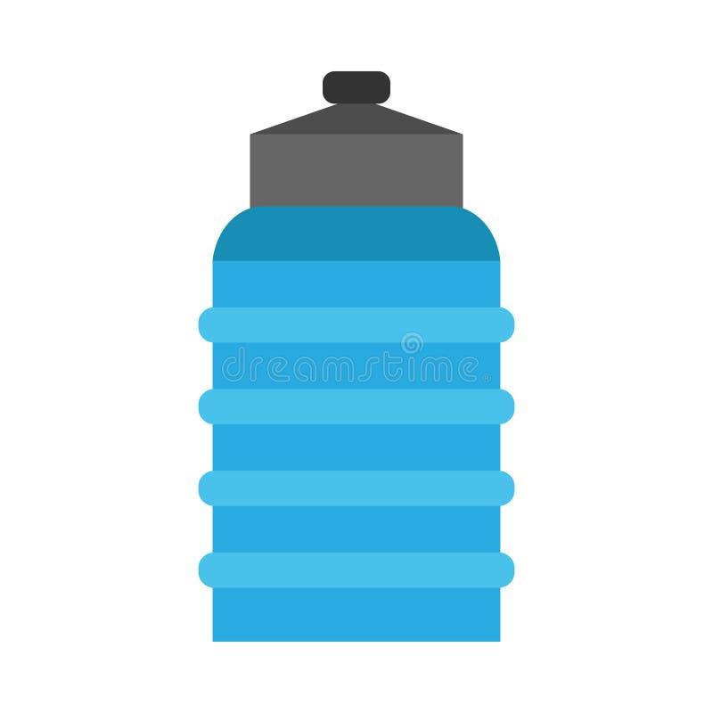 Значок вектора напитка голубой гончарни Flagon жидкостный Доставка логотипа бутылки с водой большой пластиковый галлон банки бесплатная иллюстрация