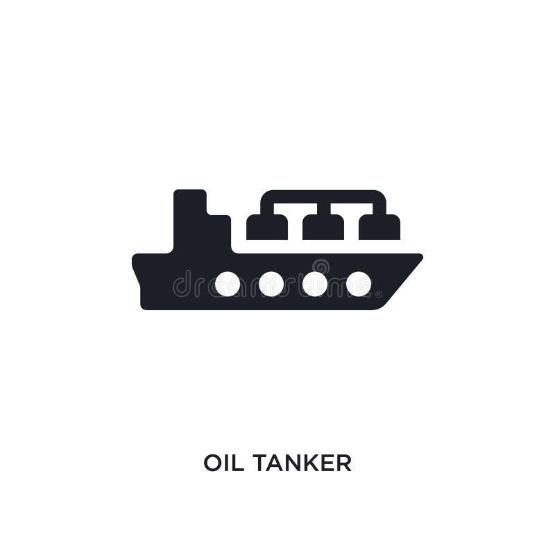 значок вектора нефтяного нефтян черного смазочного минерального масла изолированный простая иллюстрация элемента от значков векто иллюстрация штока