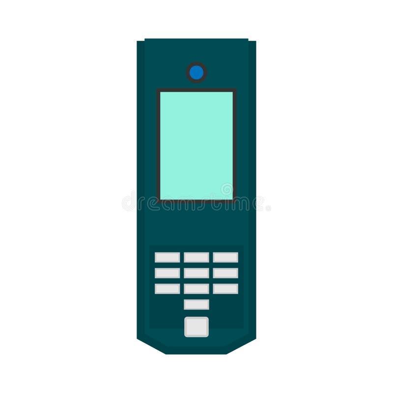 Значок вектора оборудования вида спереди смартфона плоский Мобильная технология устройства экрана электронная Белизна прибора кле бесплатная иллюстрация