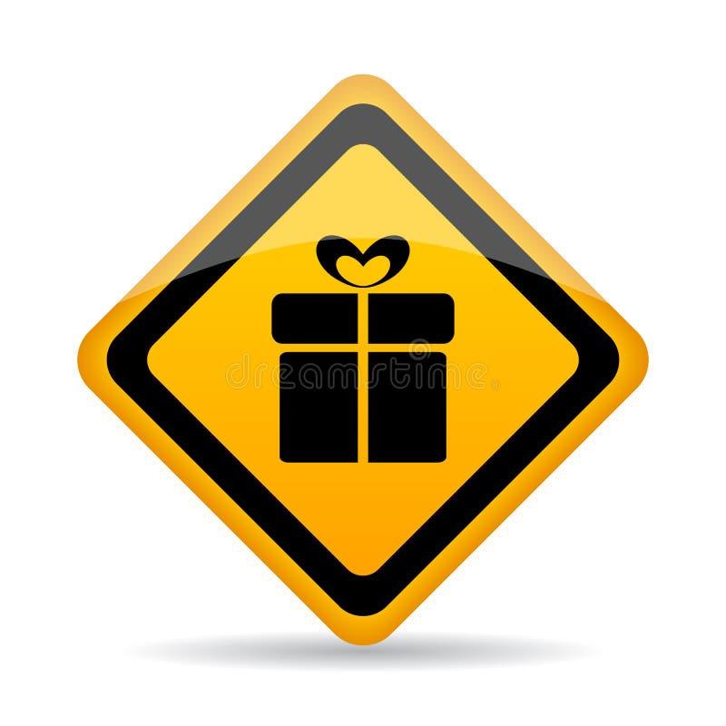 Значок вектора обслуживания оборачивать подарка бесплатная иллюстрация