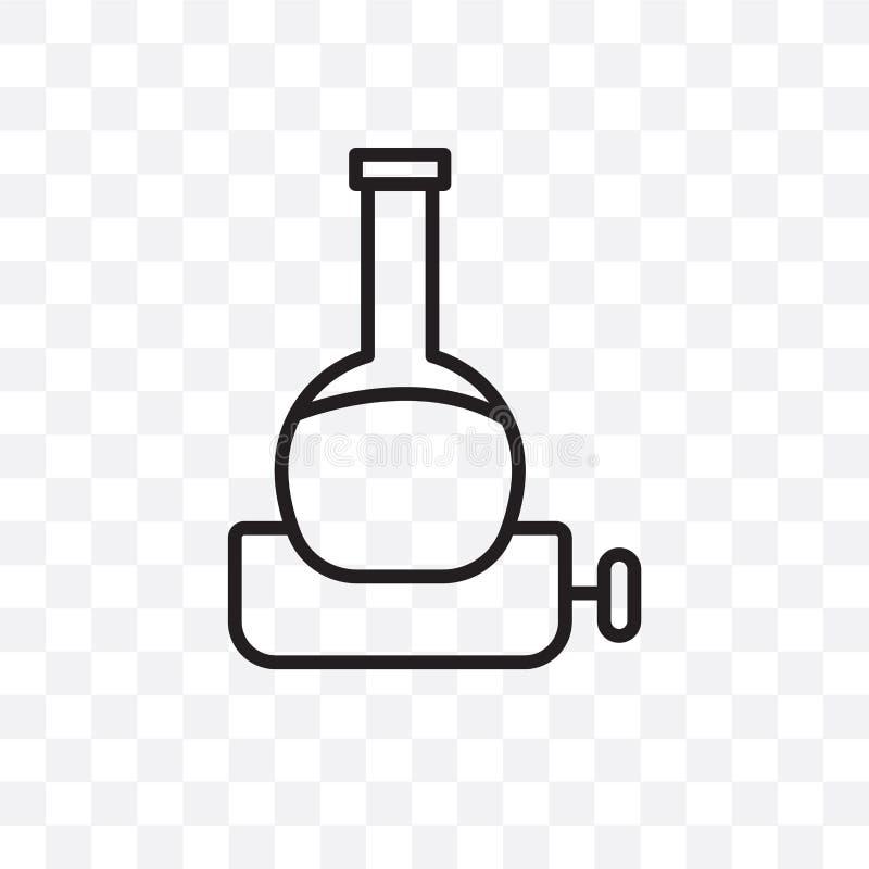 Значок вектора объемной склянки линейный изолированный на прозрачной предпосылке, концепция транспарентности объемной склянки мож иллюстрация штока