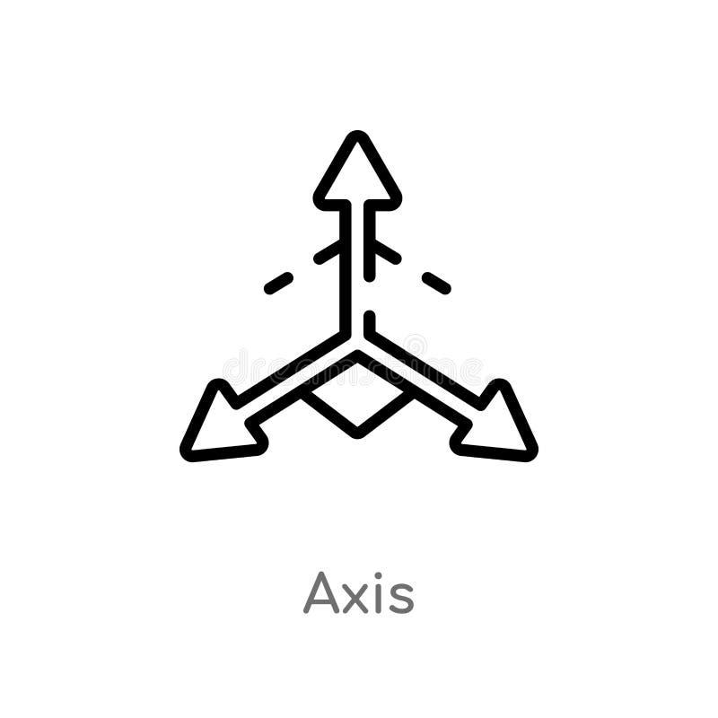 значок вектора оси плана изолированная черная простая линия иллюстрация элемента от концепции геометрии editable значок оси хода  иллюстрация вектора