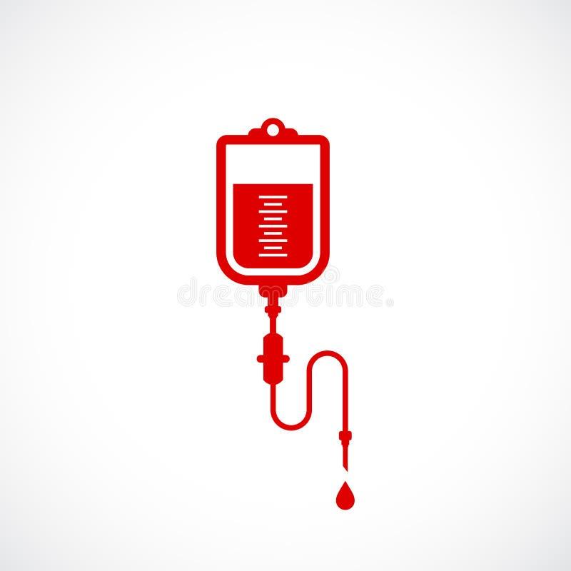 Значок вектора пакета крови бесплатная иллюстрация