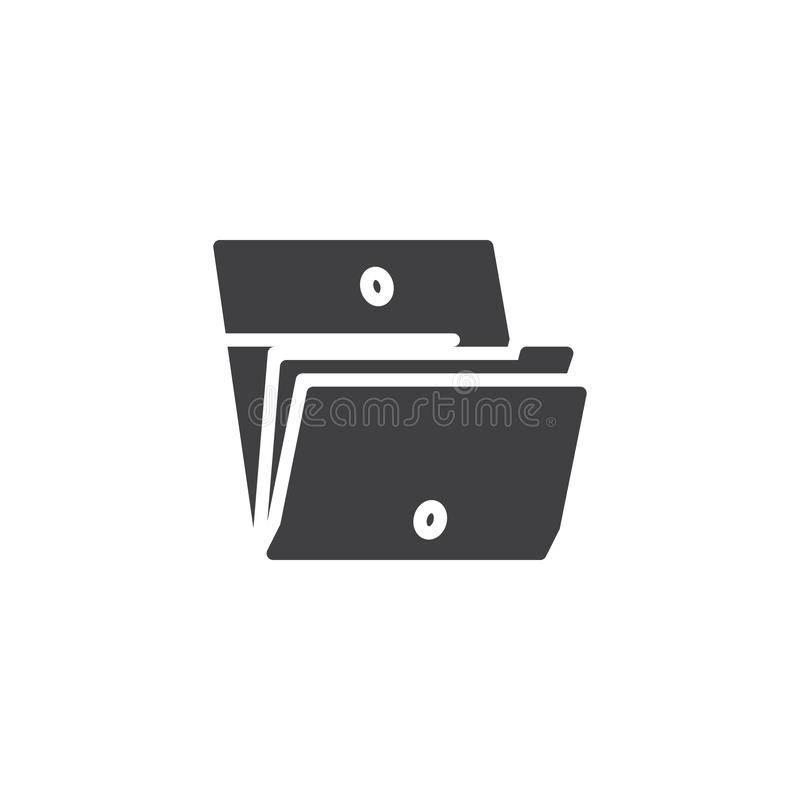 Значок вектора папки файлов бесплатная иллюстрация