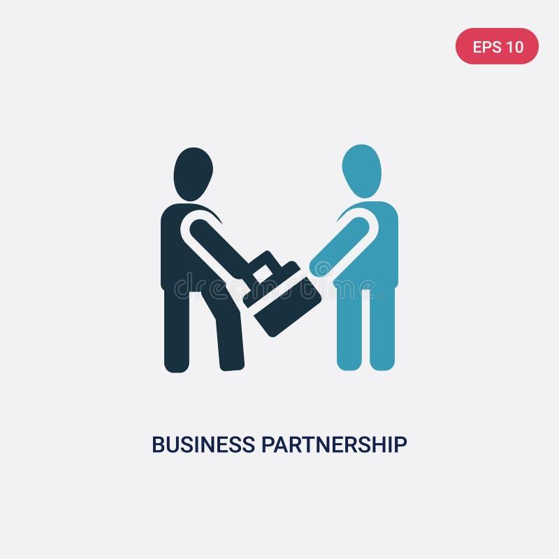 Значок вектора партнерства дела 2 цветов от концепции людей изолированный голубой символ знака вектора партнерства дела может быт иллюстрация штока