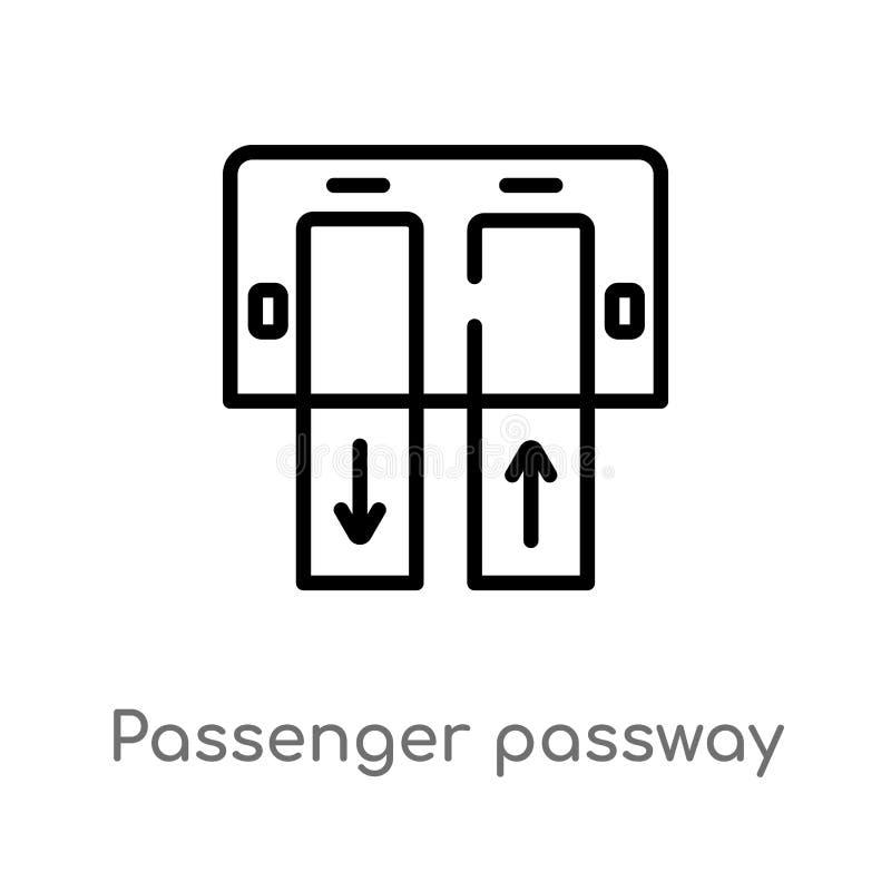 значок вектора пассажира плана passway r editable бесплатная иллюстрация