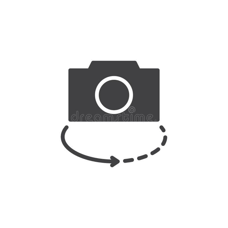 Значок вектора переключателя камеры иллюстрация вектора